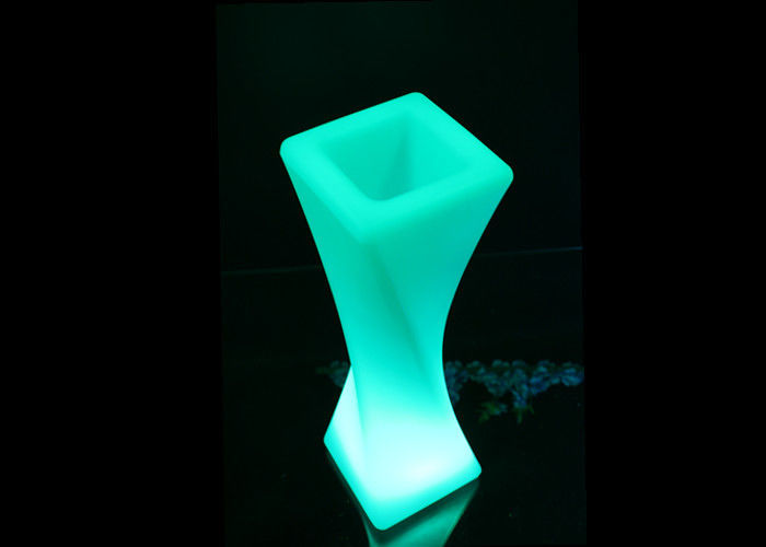 Plastic Wireless Glow In The Dark Flower Pots Elegant  Desigh For Nightclub