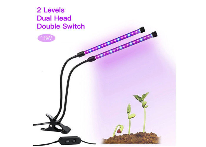 Two Stage Hydroponic Led Grow Lights 36 Leds Adjustable 360 Degree 8CM Width